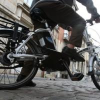 gros plan sur un vélo électrique