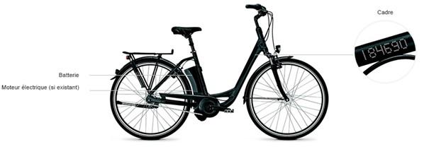 Nous gravons votre vélo à 3 endroits différents : le cadre, la batterie et le moteur