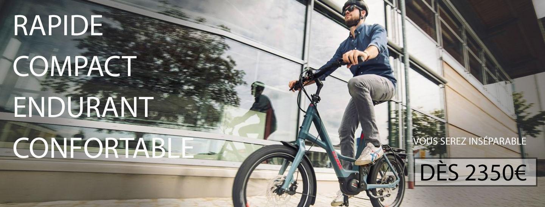 Vélos électriques pliants ou compacts