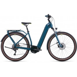 Vélo électrique Kathmandu Hybrid One 500 2022  teal´n´lime Easy Entry CUBE   Veloactif