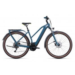 Vélo électrique Kathmandu Hybrid One 500 2022  teal´n´lime Trapèze CUBE   Veloactif