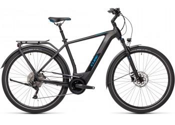 Vélo électrique Kathmandu Hybrid Pro 500 black`n`blue 2021 Cadre diamant CUBE   Veloactif