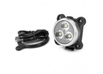 Éclairage avant WTP Disco 3LED USB 120 Lumens Noir | Veloactif